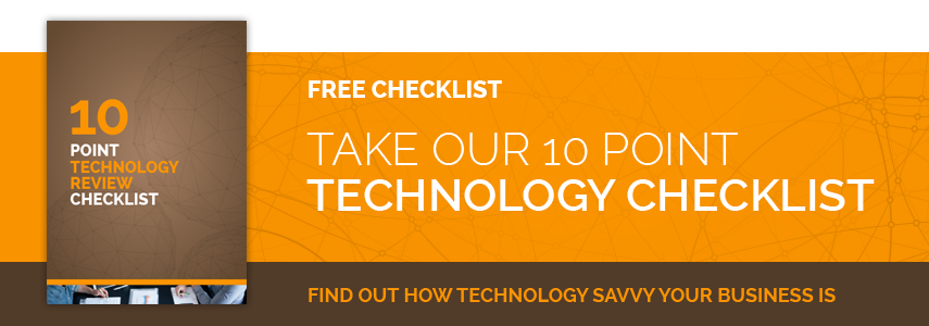 10 point technology checklist banner